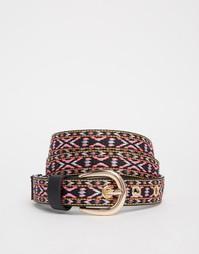 Ремень с разноцветной вышивкой Glamorous - Мульти