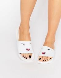 Шлепанцы TheWhiteBrand Cute Kitty - Белый