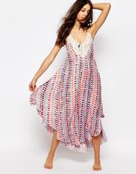 Пляжное платье миди с треугольной отделкой кроше Surf Gypsy