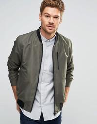 Куртка-пилот цвета хаки с нагрудным карманом ASOS - Хаки