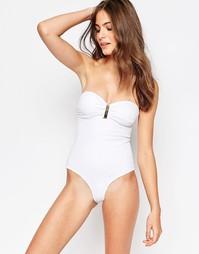 Слитный купальник в стиле бандо Phax - 100 белый