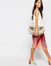Разноцветная плиссированная юбка миди Sisley - Мульти