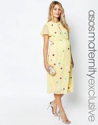 Платье миди для беременных ASOS Maternity - Мульти