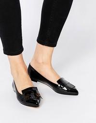 Лакированные туфли на плоской подошве Dune - Черный