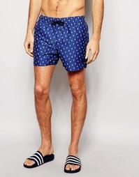 Короткие шорты для плавания Native Youth - Темно-синий
