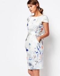 Платье миди с завязкой сзади и короткими рукавами Closet