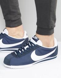 Нейлоновые кроссовки Nike Classic Cortez 807472-410 - Синий
