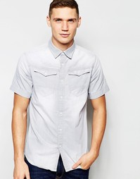 Серая джинсовая рубашка с короткими рукавами G-Star Arc 3D