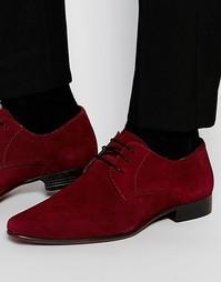 Бордовые туфли дерби из замши ASOS - Burgundy