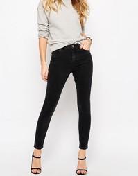 Черные выбеленные джинсы cкинни ASOS RIDLEY - Выбеленный черный