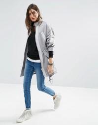 Легкая oversize‑куртка ASOS - Светло-серый