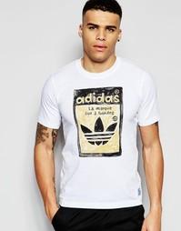 Футболка с принтом adidas Originals X Nigo AJ5205 - Белый