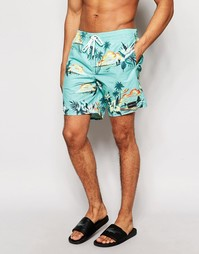 Зеленые шорты для плавания с гавайским принтом O'Neill - Зеленый