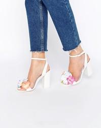 Босоножки на каблуке ASOS HUMOUR - Белый
