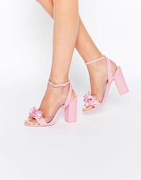 Босоножки на каблуке ASOS HUMOUR - Розовый