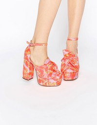 Туфли на платформе ASOS PUPPET SHOW - Цветочный