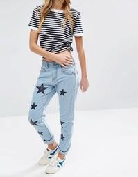 Джинсы в винтажном стиле с аппликацией в виде звезд Daisy Street