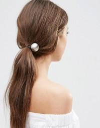 Резинка для волос с шаром ASOS - Серебряный