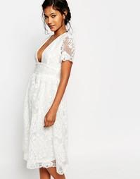 Платье для выпускного из органзы Boohoo Boutique - Белый