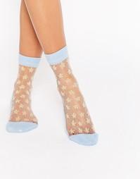 Прозрачные носки с блестящими звездочками ASOS - Синий