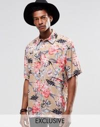 Фестивальная рубашка с цветочным принтом Reclaimed Vintage - Stone