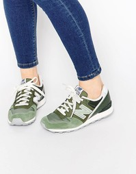 Зеленые кроссовки цвета хаки New Balance 996 - Зеленый