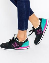 Черные кроссовки с розовой отделкой New Balance 420 - Черный мульти