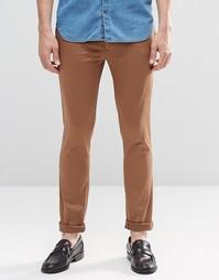 Коричневые облегающие брюки из хлопка ASOS - Dashund