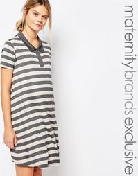 Платье-поло в полоску для беременных Bluebelle Maternity - Мульти