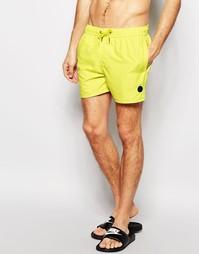 Короткие шорты для плавания Native Youth - Желтый