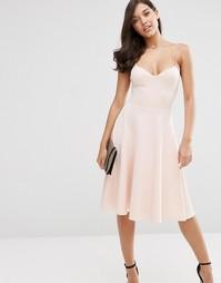 Приталенное платье миди ASOS
