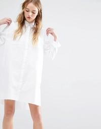 Платье-рубашка с необработанной кромкой Native Youth - Белый