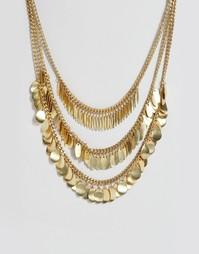 Ожерелье Pieces Basilla - Золотой