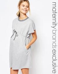 Трикотажное платье с эластичной талией для беременных Bluebelle Matern