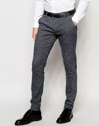 Фактурные супероблегающие брюки в строгом стиле ASOS