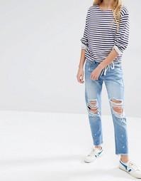 Потертые джинсы бойфренда с необработанным краем Daisy Street