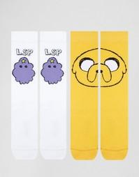 2 пары носков с узором ASOS - Мульти