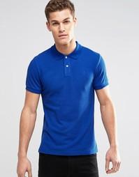 Футболка-поло из ткани пике Esprit - Кобальтовый синий