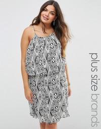 Платье с геометрическим принтом Diya Plus