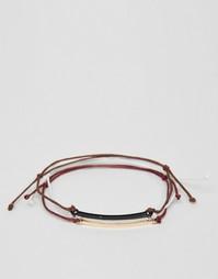 Набор пестрых веревочных браслетов ASOS - Мульти