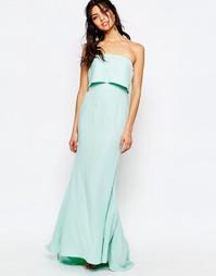Длинное платье-бандо с верхним слоем Jarlo Blaze - Мятный