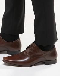 Кожаные туфли дерби ASOS - Коричневая кожа