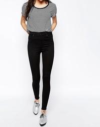 Узкие джинсы с завышенной талией Monki Oki Deluxe - Черный