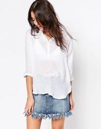 Рубашка с V‑образным вырезом b.Young - Белый