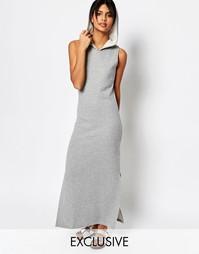 Платье макси с капюшоном Nocozo - Серый
