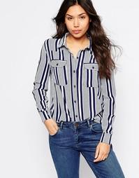 Рубашка в полоску Brave Soul - Темно-синий