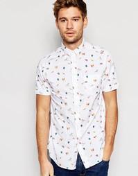 Рубашка с короткими рукавами и принтом Brave Soul - Белый