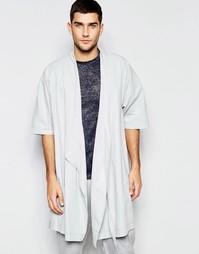 Тканый халат‑кимоно для дома ASOS - Серый