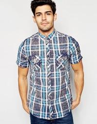 Рубашка в клетку с короткими рукавами Brave Soul Summer - Синий