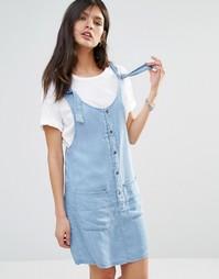 Джинсовое платье с карманами спереди Noisy May - Синий